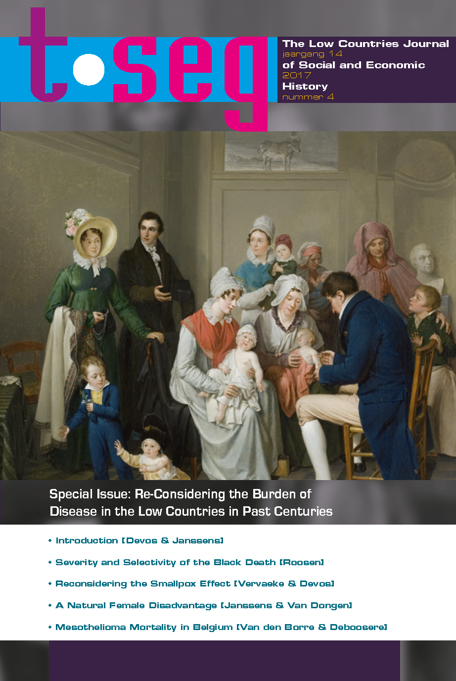 View Vol. 14 No. 4 (2017): Re-Considering the Burden of Disease in the Low Countries in Past Centuries